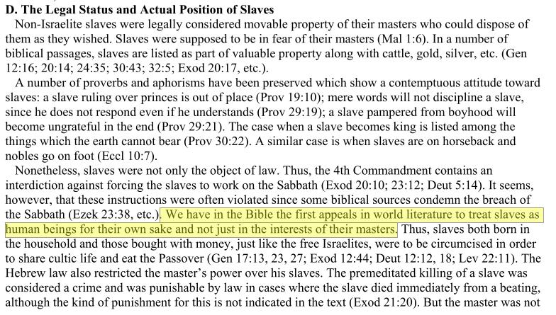 Ancient Israel: Slavery, Servanthood, and Social Welfare